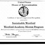 Certificate WA Volunteer - Sustainable Westford
